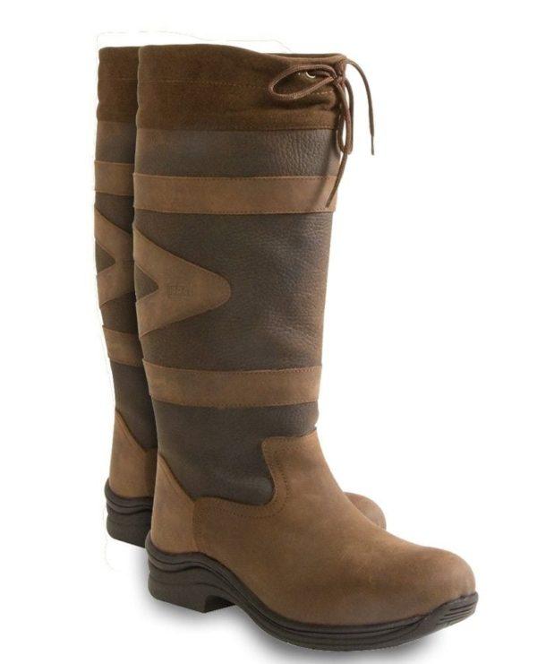Toggi Canyon Leather Boot - Chocolate Standard Calf/Leg - Toggi Canyon Leather Boot Equestrian Country Choc Brown Standard Leg Fitting 321684574200