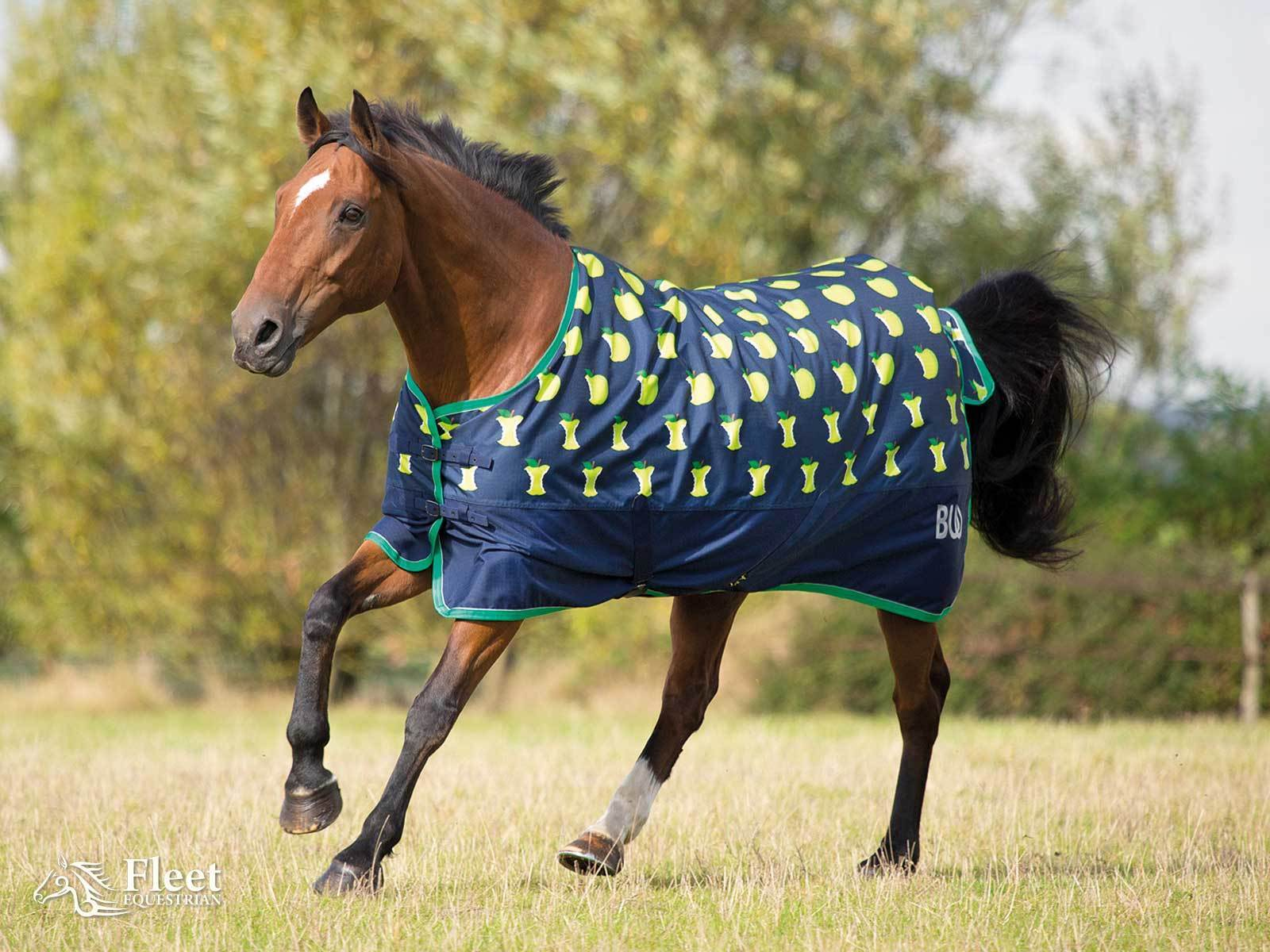 Bridleway Ontario Lightweight Turnout Rug Green Le Print