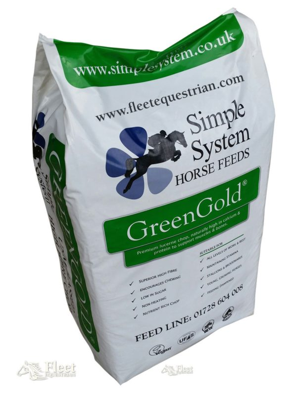 Simple System GreenGold Premium Chop - Simple System GreenGold Premium Chop High Fibre Natural Horse Feed 175kg 322525347432