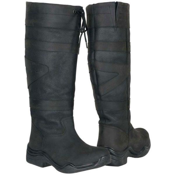 Toggi Canyon Leather Boot - Black Wide Calf/Leg - Toggi Canyon Leather Boot Equestrian Country Black Wide Leg Fitting 221846642982