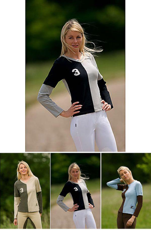 Equi-Theme Domino Long Sleeved T-Shirt - Equi Theme Domino Long Sleeved T Shirt Equestrian LAST FEW 222516871334