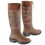 Toggi Canyon Leather Boot - Chocolate Wide Calf/Leg - Toggi Canyon Leather Boot Equestrian Country Choc Brown Wide Leg Fitting 222747966314