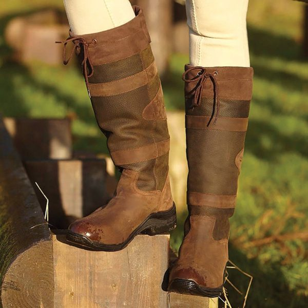 Toggi Canyon Leather Boot - Chocolate Wide Calf/Leg - Toggi Canyon Leather Boot Equestrian Country Choc Brown Wide Leg Fitting 222747966314 2