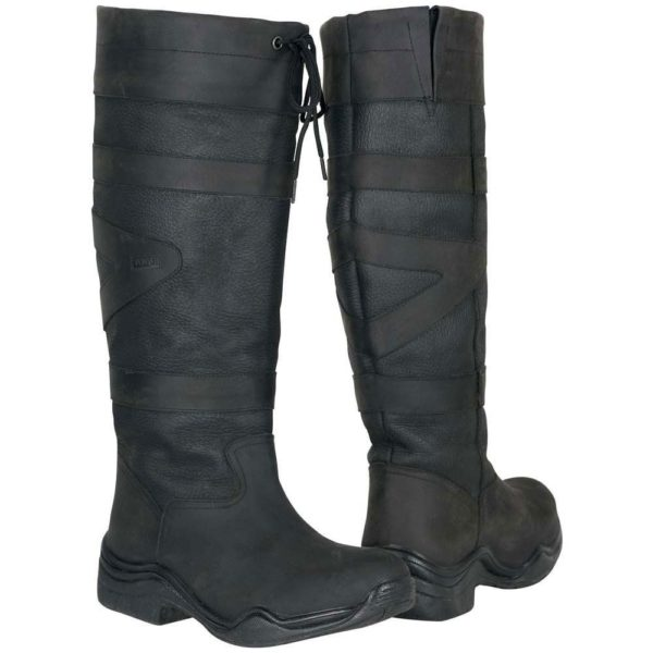 Toggi Canyon Leather Boot - Black Standard Calf/Leg - Toggi Canyon Leather Boot Equestrian Country Black Standard Leg Fitting SAVE 321830821569